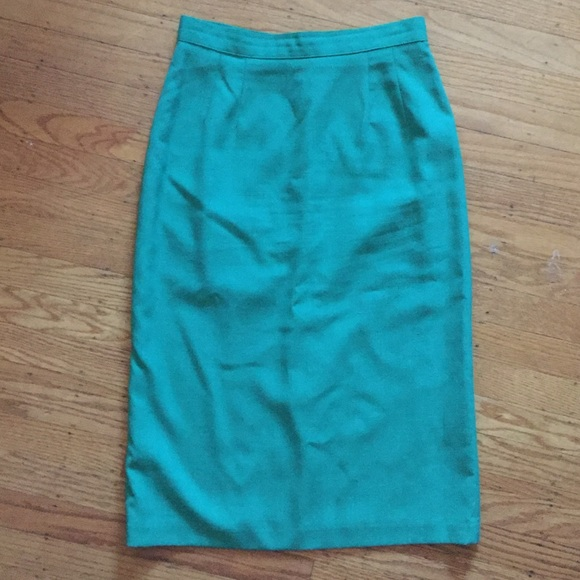 4a99f2b30 Radcliffe Skirts | Vintage High Waisted Kelly Green Pencil Skirt ...